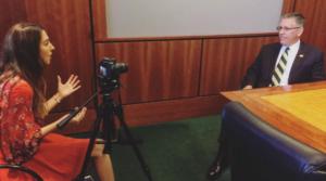 Avrah Baum interviewing Armstrong