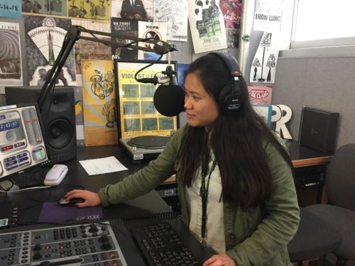 Our broadcast reporter, Clara Knapp, and our Public Relations Specialist, Allison Royal, were interviewed by Peter Gonzalez and Megan Schelling (pictured) on 91.3 KCPR about their project.