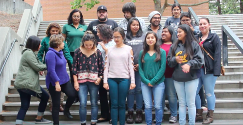 Chicano/Latino students and coordinators group photo