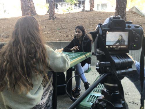 Dezeray Cruz during her interview